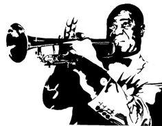 Louis Armstrong by RinpaIvo on DeviantArt Arte Jazz, Jazz Art, Jazz Music, Music Collage, Music Artwork, Louis Armstrong, Jazz Painting, Black And White Painting, Kids Corner