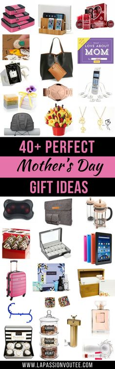 The best Mother's Day Gifts for moms, wife, grandmother or aunt that she's guaranteed to love and affordable for you. Click to discover the complete gift guide now.