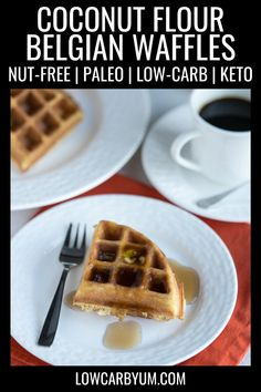 Scrumptious low carb paleo coconut flour waffles are easy to make. Just mix up the ingredients in a blender then pour in a Belgian waffle maker. Practical Paleo Recipes, Paleo Recipes Easy, Clean Eating Recipes, Low Carb Recipes, Beef Recipes, Skillet Recipes, Coconut Flour Waffles, Best Keto Breakfast, Healthy Breakfast Recipes