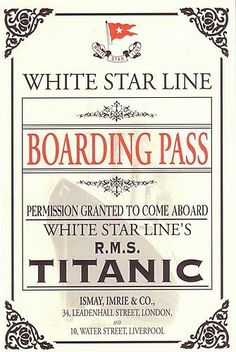 Titanic Activities | Smartchickteacher's Blog.. could be homework pass, exit ticket...?