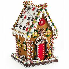 stuffed toy Gingerbread house | Illuminated Gingerbread House | Smithsonian Museum Store
