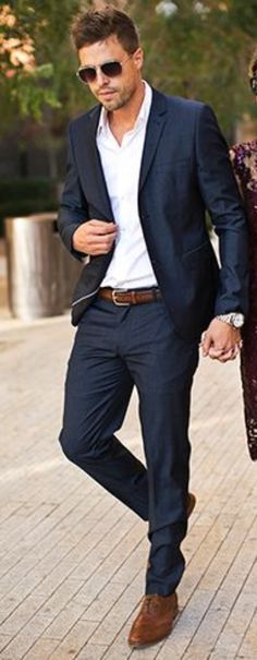 a188d7bc8c10e 2017 Latest Coat Pant Designs Navy Blue Casual Custom Beach Groom Wedding  Suits For Men Slim Fit Notched Lapel 2 Piece Terno 549