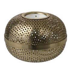 Holger tea light holder, brass