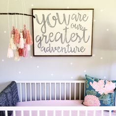 Baby Girl Nursery- {sign & mobile by BordenSpecifics.com}