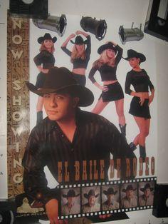 "RODEO TEJANO SUPERSTARS SEXY promo poster  ""NOW SHOWING: EL BAILE DE"", vg"