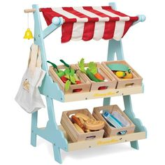 Le Toy Van Market Stall | Kids Toy Store | Mudpies $130