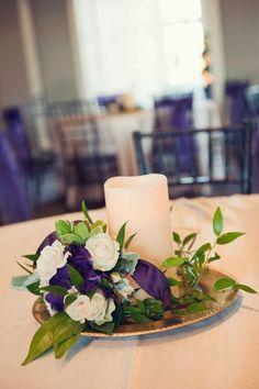 #Purple wedding decor idea #weddings #centerpieces
