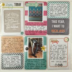 Mrs Crafty Adams: Project Life - January (Part Two) Studio Calico Project Life kit