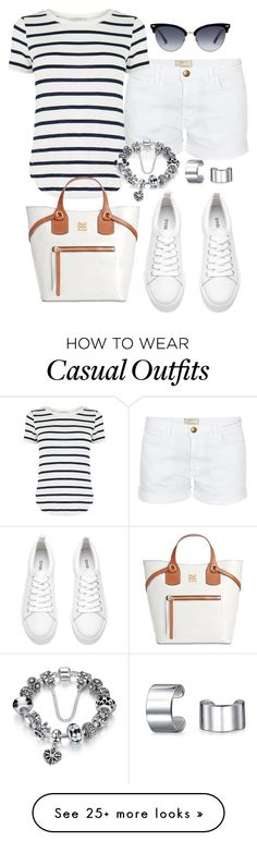 """""""Casual de Verão"""" by alice-fortuna on Polyvore featuring Current/Elliott, Oasis, Gucci, Dooney & Bourke and Bling Jewelry"""