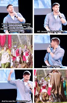 Lol i love supernatural! Jensen Ackles, Jared And Jensen, Sammy Supernatural, Supernatural Quotes, Web Comic, Emmanuelle Vaugier, Cw Series, Bae, Winchester Boys
