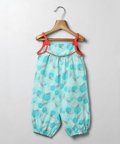 Another great find on #zulily! Turquoise Geoprint Romper - Infant & Toddler #zulilyfinds