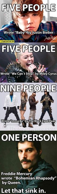 Justin Bieber / Miley Cyrus / Black Eyed Peas vs Queen-Freddie Mercury  #JustinBieberSucks