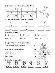 English Activities, Preschool Activities, Math For Kids, Working With Children, Math Worksheets, Math Lessons, First Grade, Vocabulary, Sheet Music
