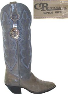 Christobal Gray Vintage Cowgirl Boots