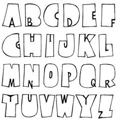 Fonts Best Picture For alphabet letter crafts teaching For Your Taste You are looking for something, Hand Lettering Alphabet, Doodle Lettering, Creative Lettering, Lettering Styles, Calligraphy Letters, Brush Lettering, Alphabet Fonts, Bubble Letters Alphabet, Bubble Letter Fonts