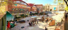 · El Campo de Cebada, reinvigorated and now self-run by a group of community activists · #CampoDeCebada #Cebada #Madrid