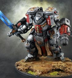 Can't get enough of this #40k Grey Knight Dreadknight conversion. Badass!