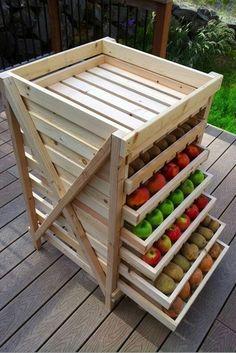 Food Storage idea (I would add wheels)