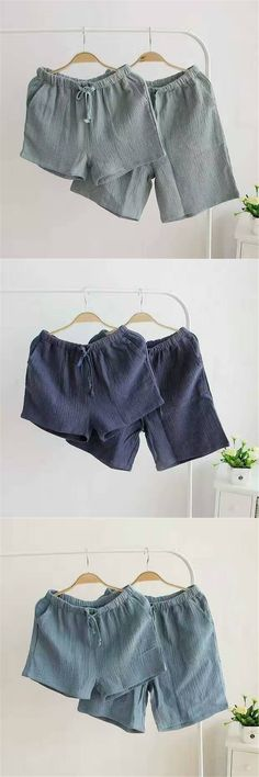 2017 Summer sexy womens sleep bottoms fresh soft 100% cotton home shorts for women lovers pajamas pants couples shorts women