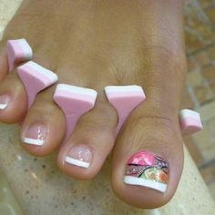 Pedicure idea for during the spring and summer months!