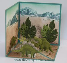 The Crafty Thinker: Stephanie Fischer - Independent Stampin' Up Demonstrator: Crazy Crafters Blog Hop - 4 April 2016 - Dino Pop Up