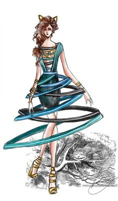 Cheshire Cat Fashion Design, based on the original book illustrations.
