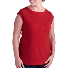 George Easy Wear Collection Rhinestone Top
