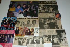 Duran Duran Simon LeBon Nick Rhodes John Taylor Power Station Magazine Clippings