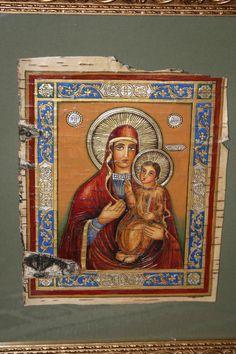 икона на бересте Любечская Пресвятая Богородица