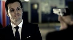 I don't know who's the most good-looking. Moriarty or Sherlock? Andrew Scott sure is cute, though :)