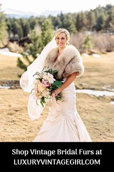 Shop Vintage Fox, Mink and Sable Fur Stoles, Shru Winter Wedding Fur, Winter Bride, Winter Wonderland Wedding, Fall Wedding, Wedding Shrug, Winter Weddings, Wedding Tips, Wedding Photos, Wedding Dress
