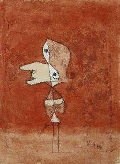 Paul Klee - Bildnis Brigitte (Ganze Figur)
