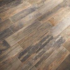 Wood look porcelain tile - Mediterranea Mountain Timber - color: NATIVE TIMBER. Looks like hardwood floor Basement Flooring, Basement Remodeling, Kitchen Flooring, Flooring Ideas, Kitchen Tile, Flooring Options, Bathroom Flooring, Basement Furniture, Wood Bathroom