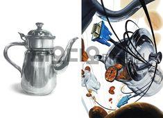 경희대 기초디자인 [커피포트/ 모니터케이블/ 커피원두/ 미대입시/ 기초조형/ 피오디오/ 경희대 국제캠] Gd, Design Art, Painting, Painting Art, Paintings, Painted Canvas, Drawings