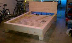 DIY bed. I like the base