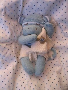 Monkey baby sock