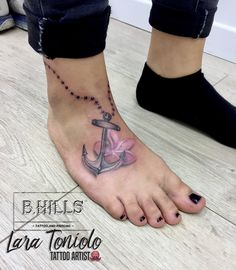 Channel a boho-luxe look using our anklets – an ideal technique to consider taking your jewelry selection into the next rank. Anklet Tattoos, Foot Tattoos, Body Art Tattoos, Tatoos, Anchor Tattoo Design, Anchor Tattoos, Tattoo Life, Get A Tattoo, Pretty Hand Tattoos