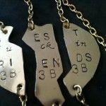 Mature Content Best Friends Necklaces custom oxidized two necklaces | Best Bitches