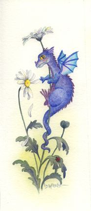 the dragon poise with flower