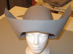 "Finished hat for my Novice Hame costume, front view (Doctor Who episode ""Gridlock"").  April 2012"