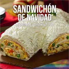 Sandwichón de Navidad - Possess Tutorial and Ideas Healthy Chicken Recipes, Mexican Food Recipes, Snack Recipes, Dinner Recipes, Cooking Recipes, Tasty Videos, Food Videos, Easy Casserole Recipes, Food And Drink