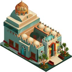 The following isometric buildings were made for Elmadina Facebook game, the architectural style is inspired by the Middle eastern region, with influences of the islamic architecture etc. This project was done under the Mentorship of Hani ElMasri http:…