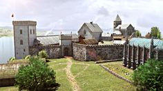 Bergenshus Slott i middelalderen.