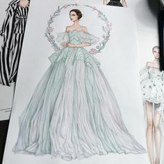 "8,885 Likes, 64 Comments - Eris Tran (@eris_tran) on Instagram: ""❤️ inspired by @dolcegabbana #sketch #sketching #draw #drawing #fashion #fashionsketch…"""