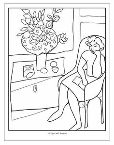 Art Handouts Fauvism Henri Matisse History Lessons Dementia Activities Coloring Books Pages Block Prints For Kids