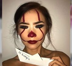 (notitle) - ✨ Make Up Madness ✨ - halloween makeup Halloween Makeup Clown, Halloween Eyes, Halloween Kostüm, Halloween Costumes, Easy Clown Makeup, Scary Clown Costume, Halloween Inspo, Makeup Fx, Makeup Inspo