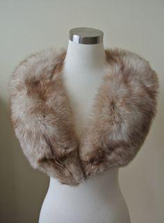 Silver Fox Fur Stole 10102 by LaBelleEpqoue on Etsy, $150.00