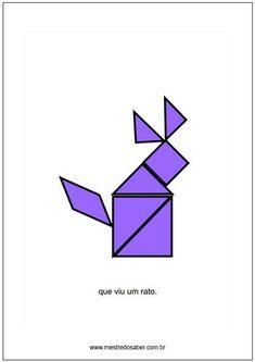 tangram figuras para montar Tangram, Anna, Logos, Geometry Activities, Lesson Planning, Math Notebooks, Learning, Feltro, Logo