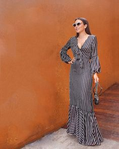 Classy Dress, Classy Outfits, Chic Outfits, Latest African Fashion Dresses, African Print Dresses, Striped Maxi Dresses, Casual Dresses, Designs For Dresses, Fall Fashion Outfits