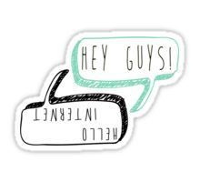 Danisnotonfire and AmazingPhil catchphrases Sticker<<< HAHA GET IT CAUSE PHIL TOPS AND DAN BOTTOMS... in so sorry